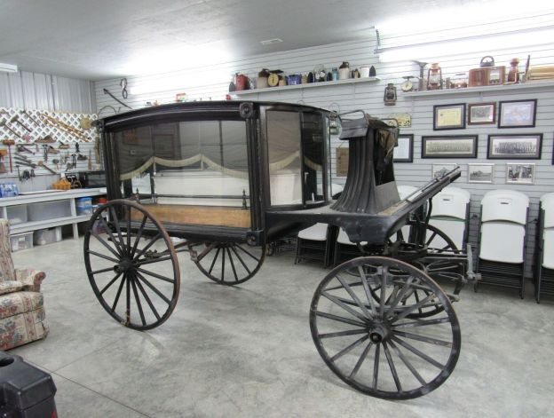 antique horse drawn funeral carriage for sale