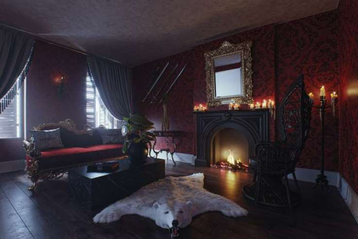Addams Family Mansion interior
