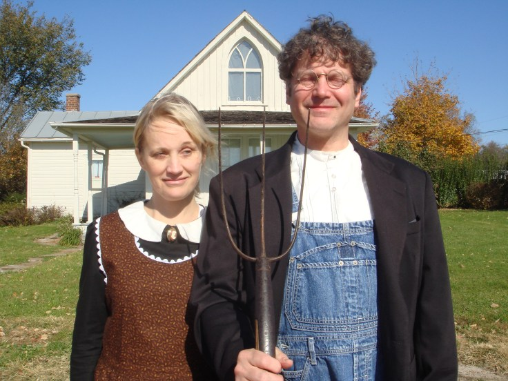American Gothic house in Eldon Iowa