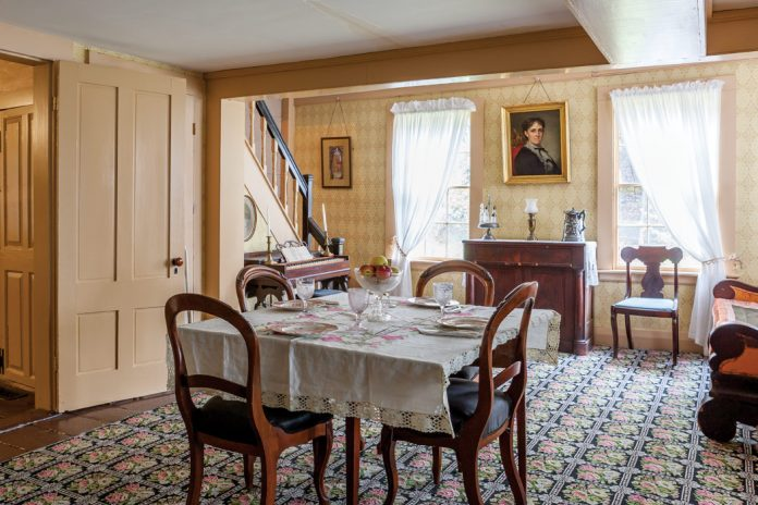 Louisa May Alcott House Orchard House dining room