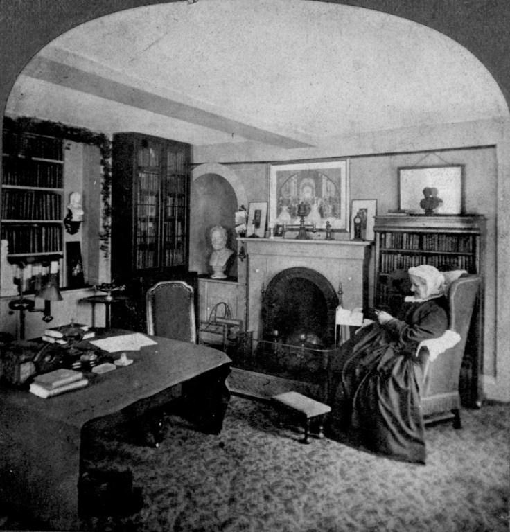 Louisa May Alcott House Orchard House study historic photo