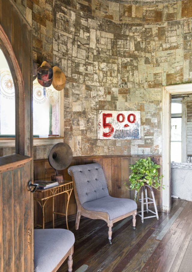 Grain silo converted to tiny house