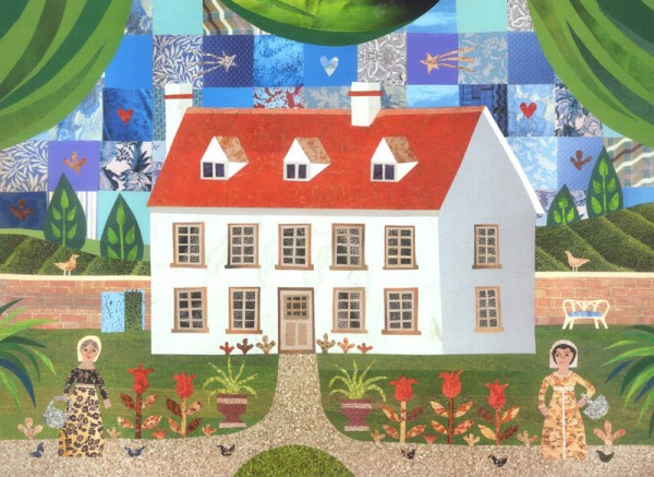 Amanda White collage literary houses