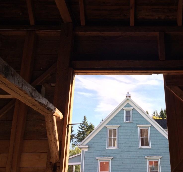 Blue House Red Barn in Nova Scotia