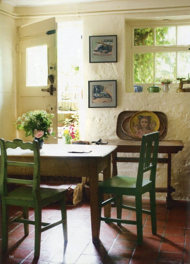 inside Monk's House Virginia Woolf's house kitchen