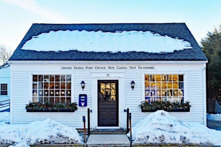 historic country post offices New Castle NH