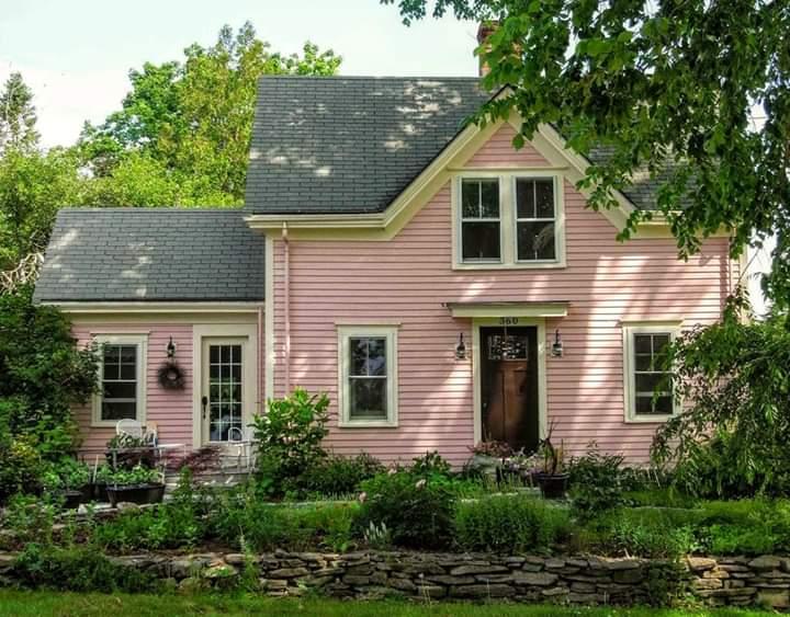 vintage pink cottage