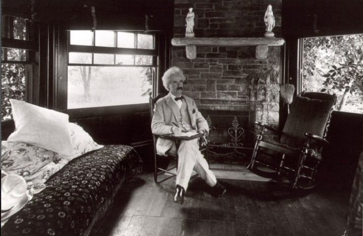 Mark Twain at his Connecticut home