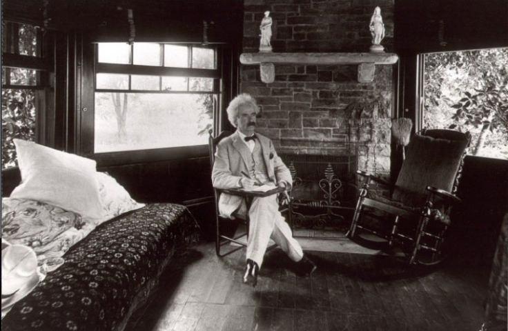 Mark Twain at his Connecticut home
