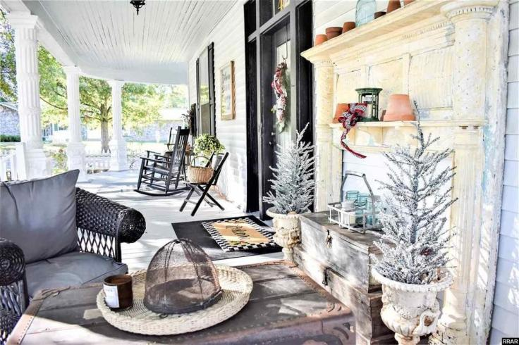 dreamy southern front porch