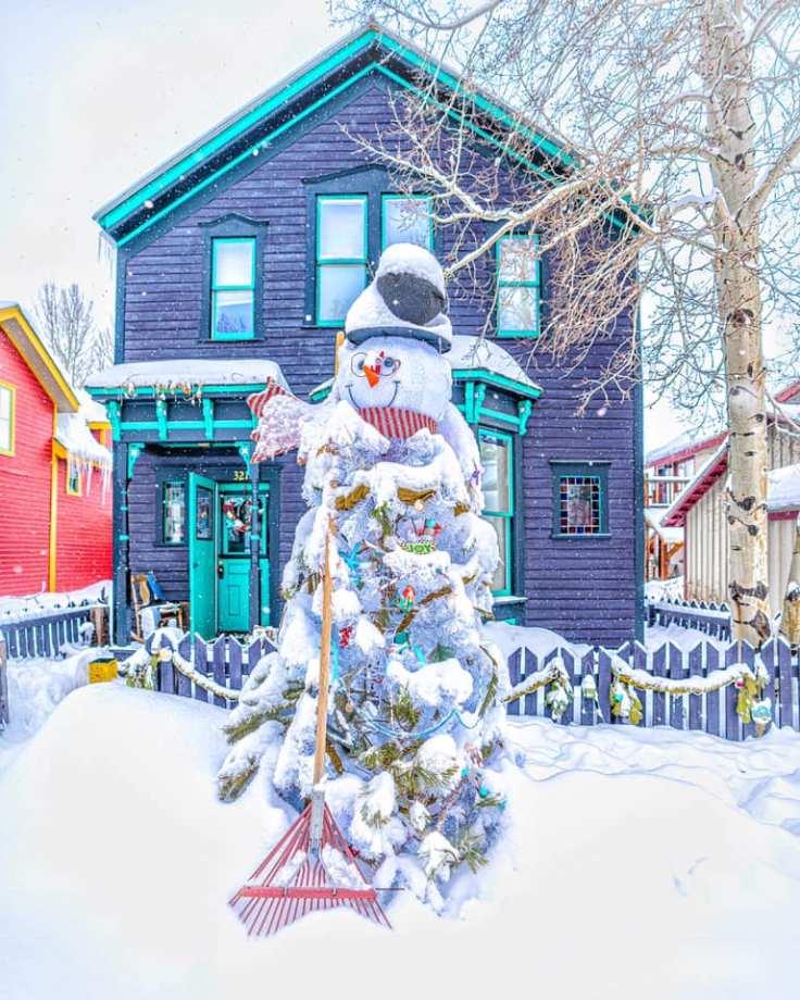 Colorado Christmas house
