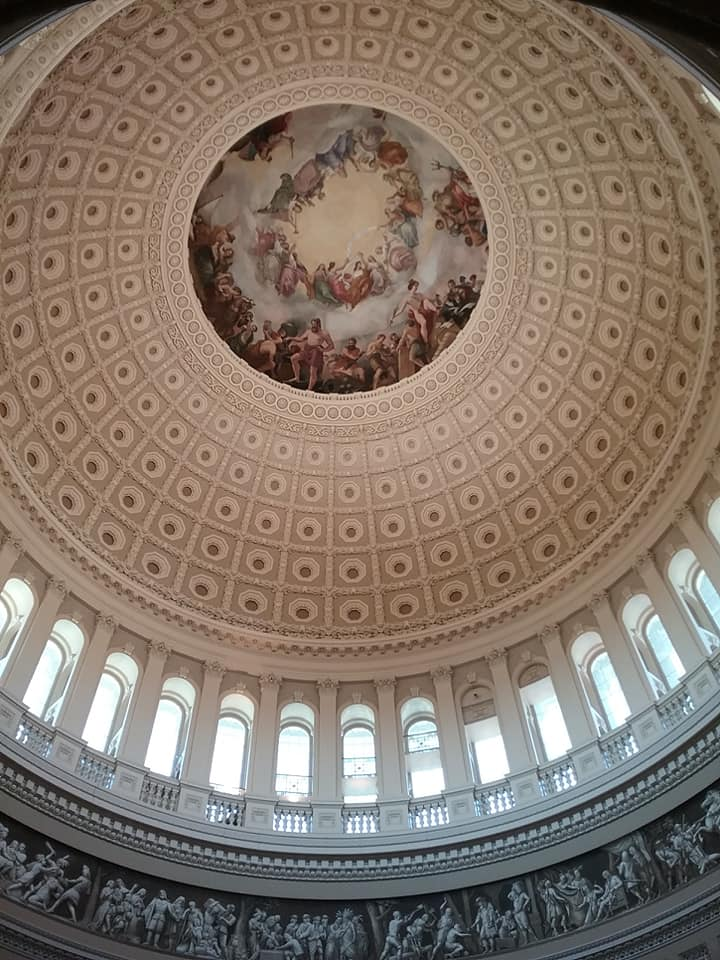 the US Capitol dome