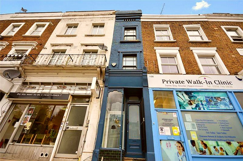 Skinniest house in London, England is for sale