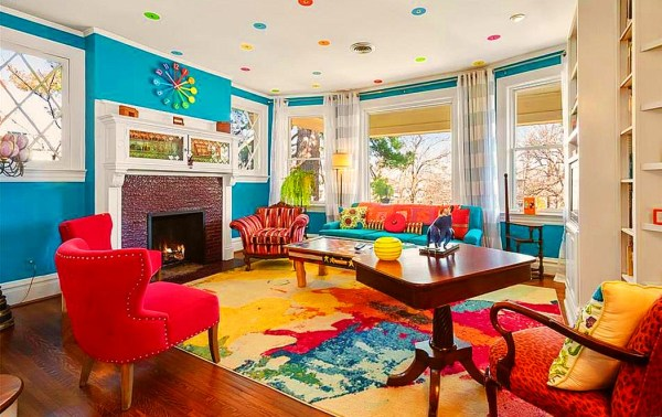 crazy colorful house