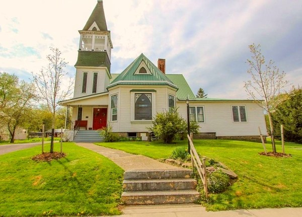 Church converted to home in New York state for sale