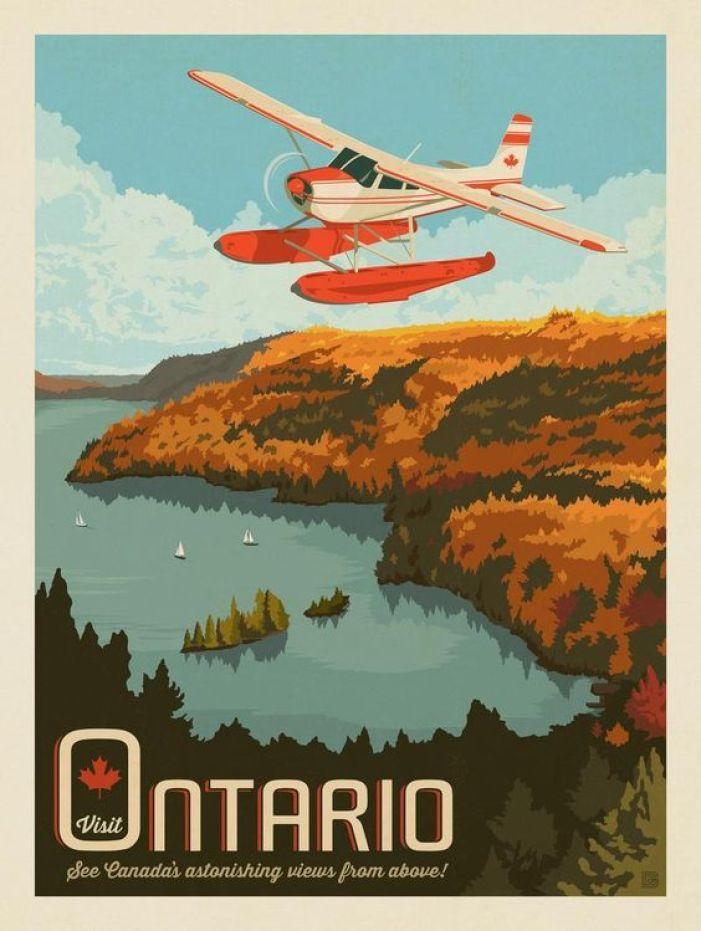 vintage Canada poster