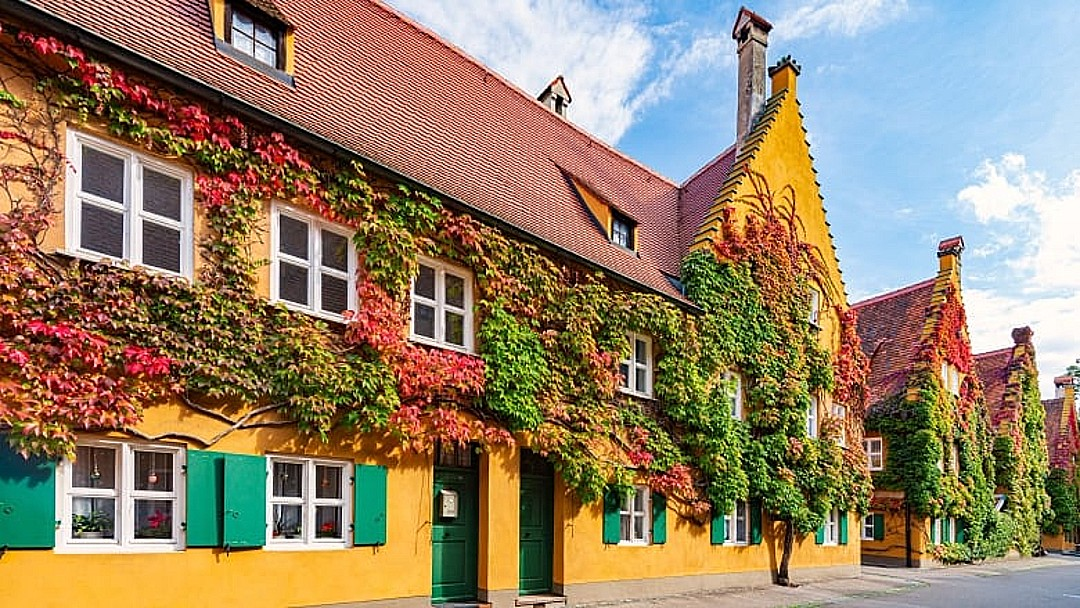 The Fuggerei in Augsburg, Germany