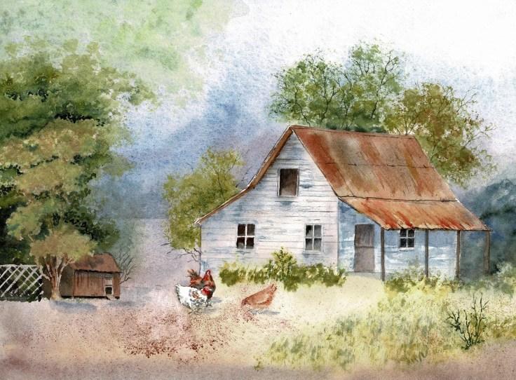 Julie Horner water colour paintings