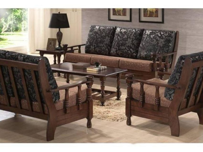Get Simple Wood Sofa Sets For Your Living Room