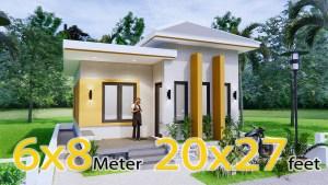 Small House Design 6x8Meter 20x27Feet Hip Roof