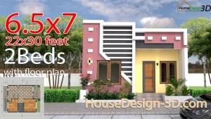 Small House Design 6.5x7 Meter 22x30 feet