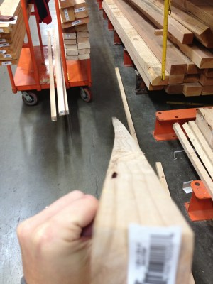Checking wood for straightness