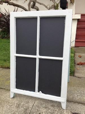 Antique Window Chalkboard