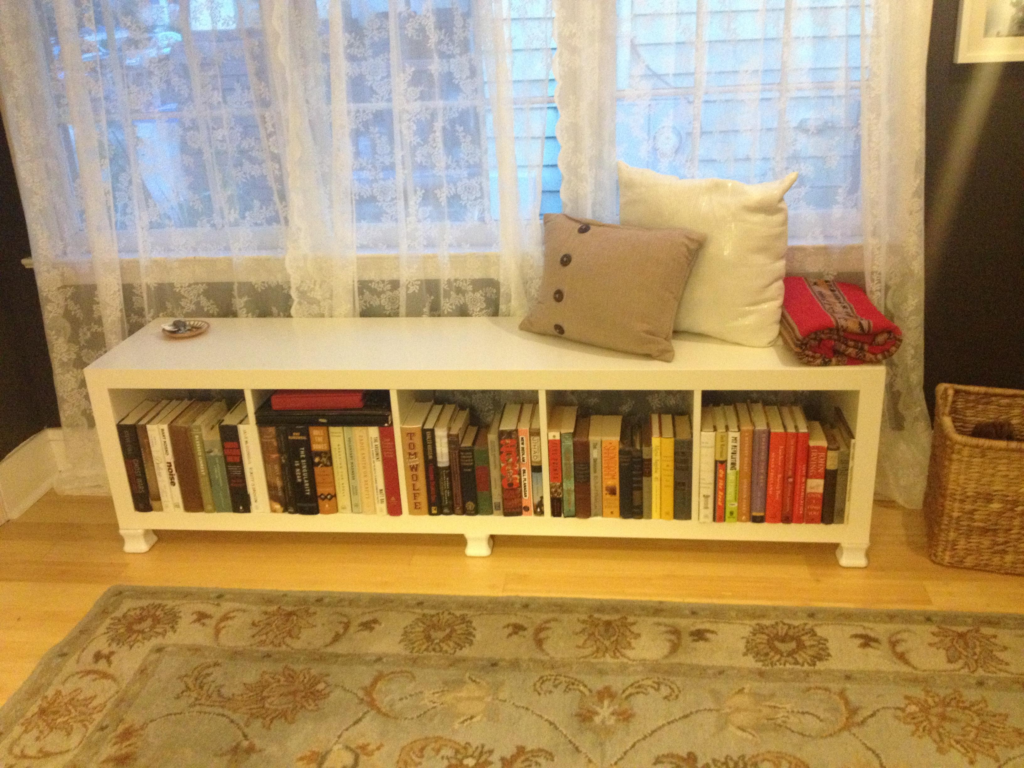 ikea expedit hack bench images. Black Bedroom Furniture Sets. Home Design Ideas