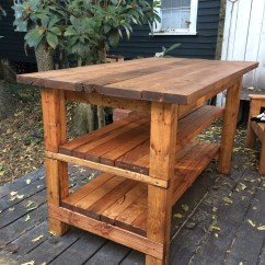 Kitchen Island Rustic Cabinet Redo Hand Built House Food Baby