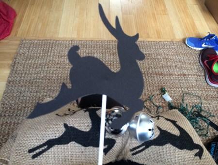 Burlap & Reindeer Tree Topper || House. Food. Baby.