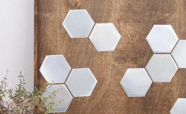 Diy Metal Hexagon Wall Art A Houseful Of Handmade