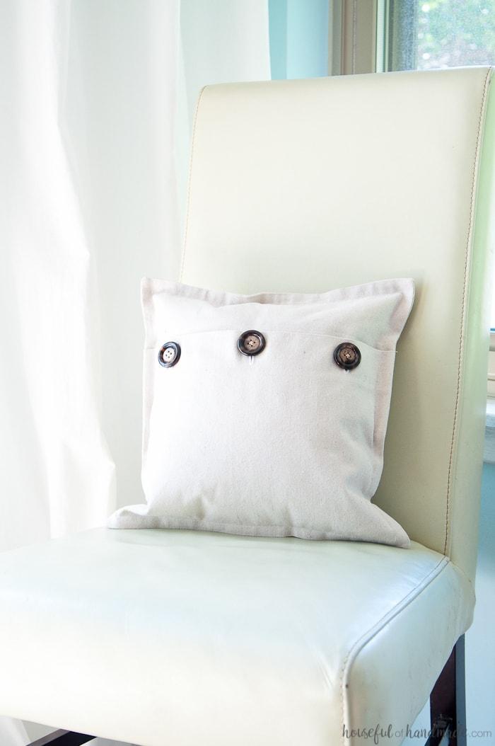 Easy Drop Cloth Pillow Cover Tutorial Houseful Of Handmade