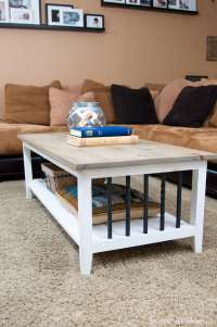 Farmhouse Coffee Table Build Plans - a Houseful of Handmade