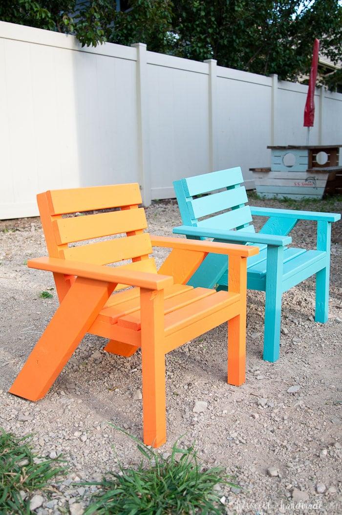 Easy DIY Kids Patio Chairs  Houseful of Handmade