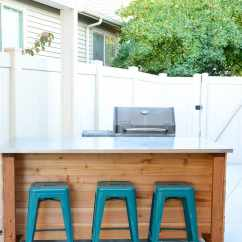 Outside Kitchen Island Remodeled Small Kitchens Outdoor Build Plans Houseful Of Handmade Create A Portable In An Afternoon With These Free This Easy