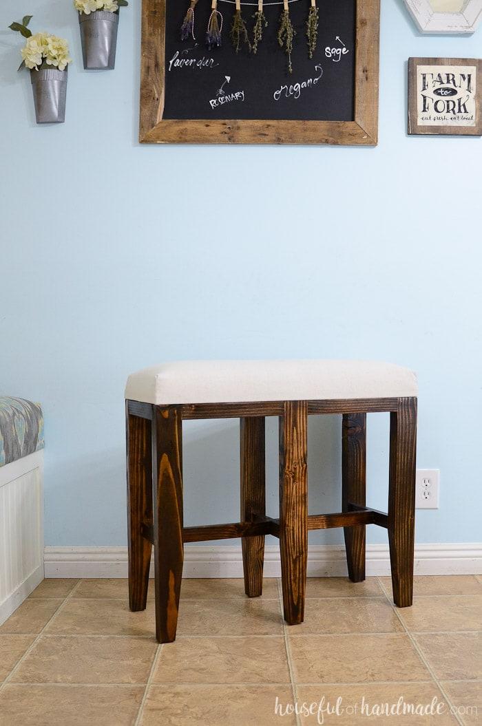 Upholstered Barstool Benches Diy Houseful Of Handmade