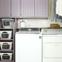 Buy Old Kitchen Cabinets Country Decorations How To Build Cabinet Doors Cheap Houseful Of Handmade Purple Diy Shaker Over A Washer And Dryer With Laundry Basket Storage On The