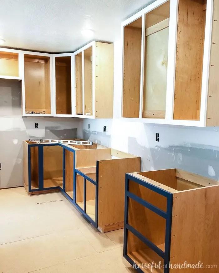 2x4 Kitchen Cabinets : kitchen, cabinets, Build, Farmhouse, Cabinet, Houseful, Handmade
