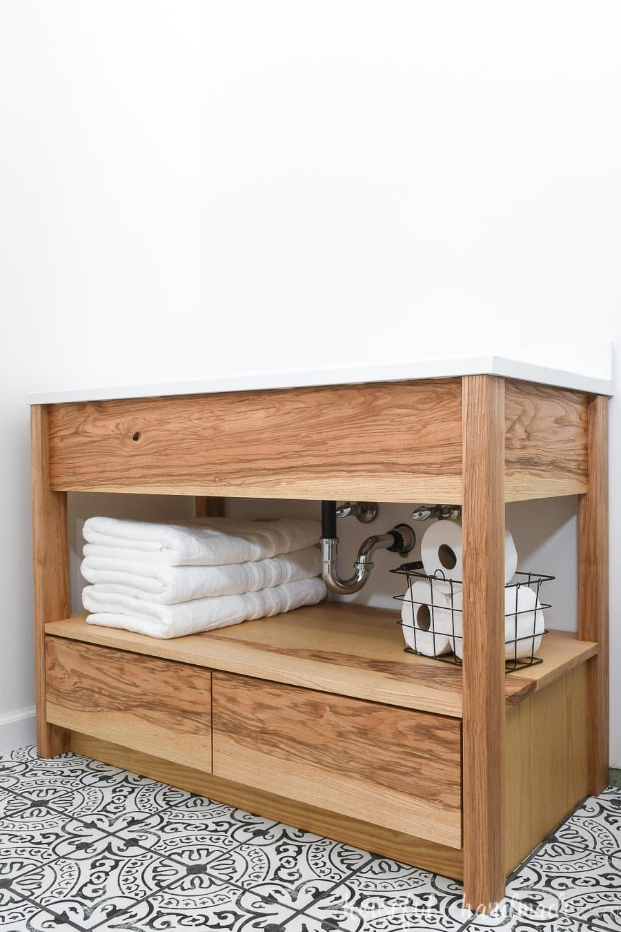 Diy Bathroom Vanity With Bottom Drawers Houseful Of Handmade