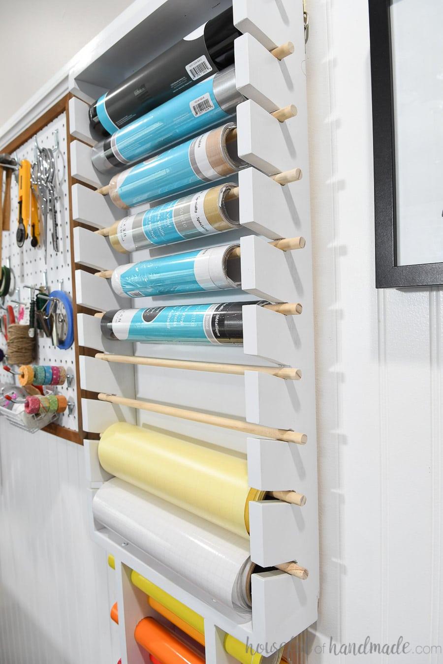 vinyl roll storage rack houseful of