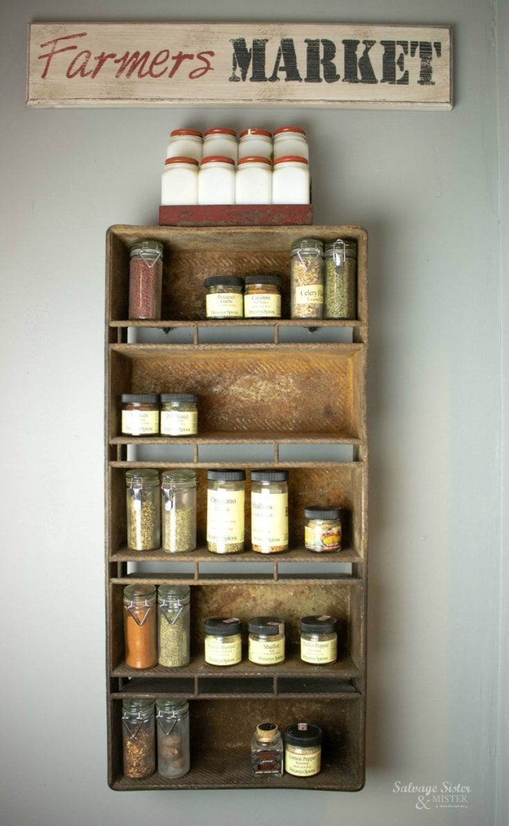 diy spice rack ideas for an organized