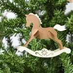 7 Days Of Paper Christmas Decor Rocking Horse Christmas Ornaments Houseful Of Handmade
