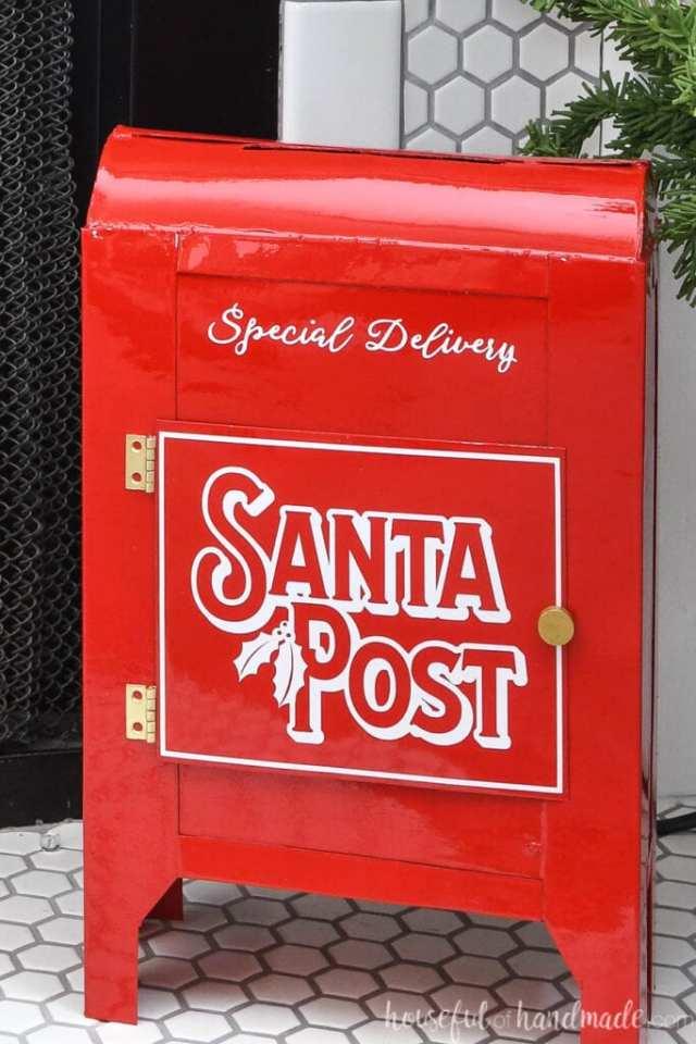 Diy Santa Mailbox From Cereal Bo