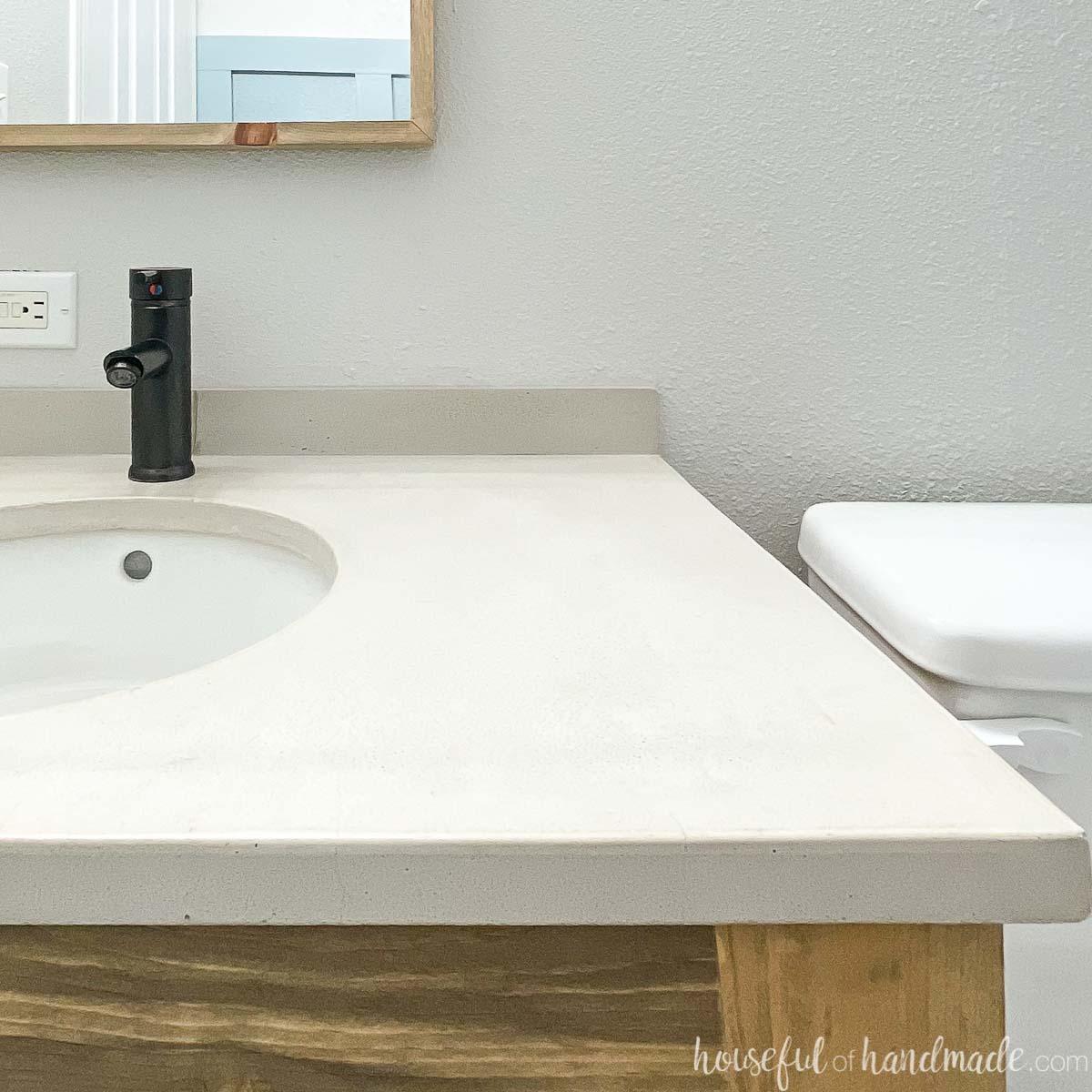 cheap diy vanity tops for your bathroom