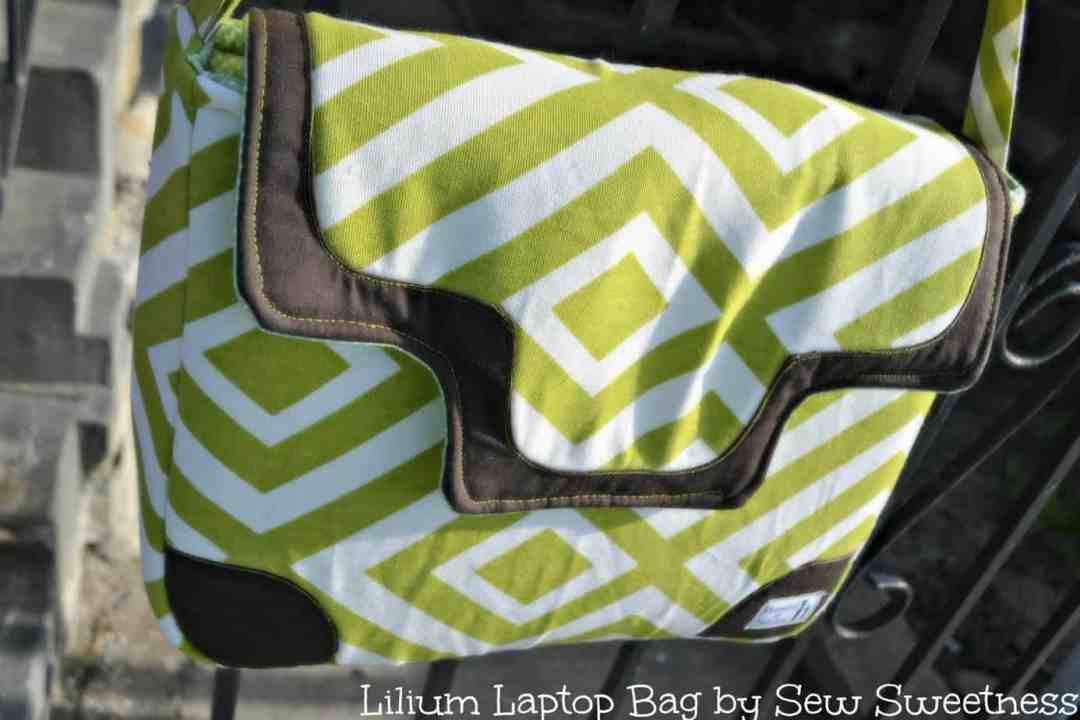 Lilium Laptop Bag by Sew Sweetness