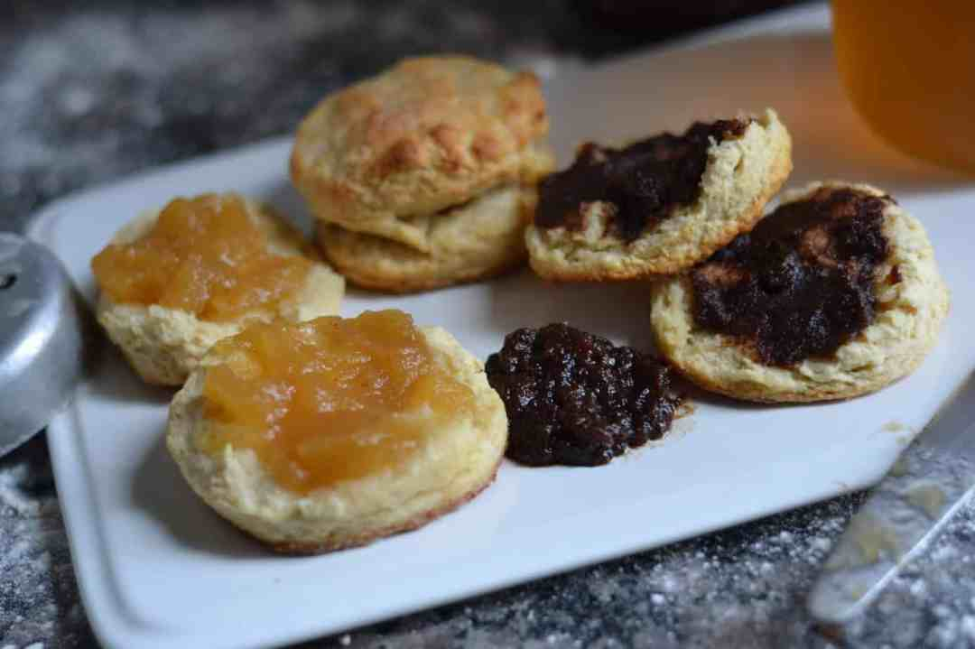Biscuits and tea - what can be more Southern? Starting off mornings with homemade biscuits, apple butter and tea, perfect way to start the day.