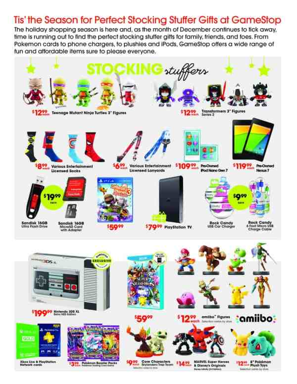 GameStop Holiday Stocking Stuffers