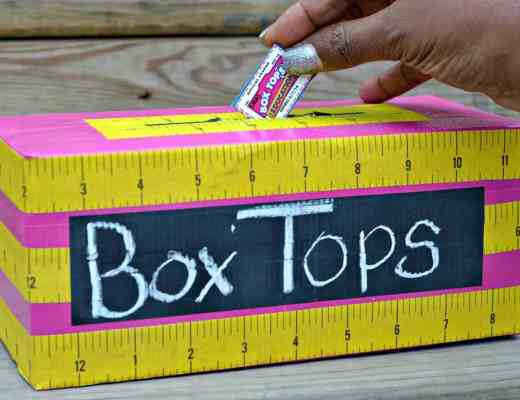 Box Tops Collection Bin