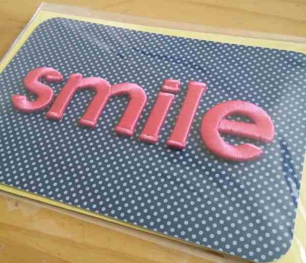 Smile notecard