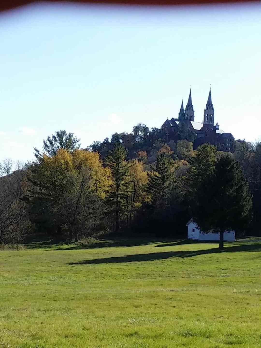 Holy Hill National Shrine of Mary from a back road